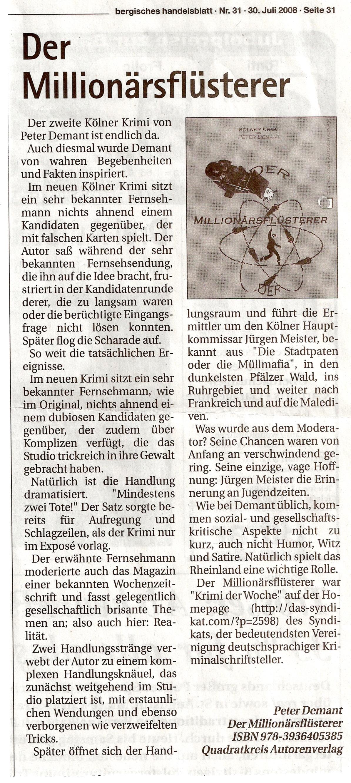 Bericht Berg. Handeslblatt 3.8.08