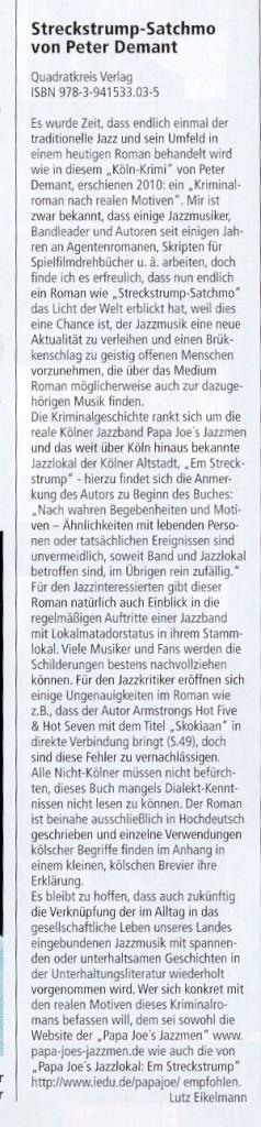 Jazzpodium - die bedeutendste deutschspr. Jazzzeitschrift und mein Roman
