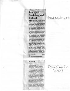 Vorberichte Lesung Zülpich